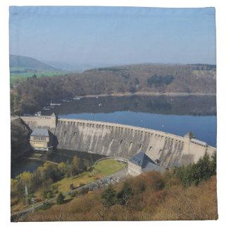 Edersee concrete dam in the spring napkin