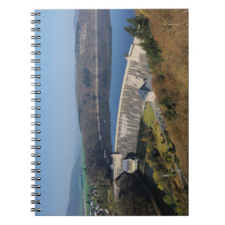 Edersee concrete dam in the spring spiral notebook