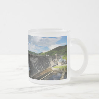 Edersee concrete dam with closed forest-hits a frosted glass coffee mug