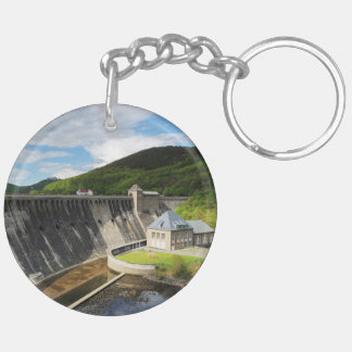 Edersee concrete dam with closed forest-hits a key ring