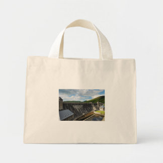 Edersee concrete dam with closed forest-hits a mini tote bag