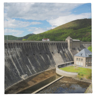 Edersee concrete dam with closed forest-hits a napkin