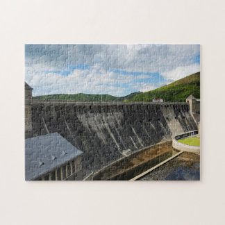 Edersee concrete dam with closed forest-hits a puzzle