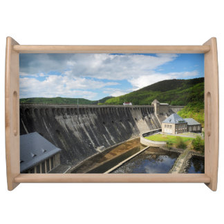 Edersee concrete dam with closed forest-hits a serving tray