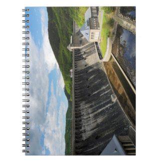 Edersee concrete dam with closed forest-hits a spiral notebook