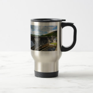 Edersee concrete dam with closed forest-hits a travel mug