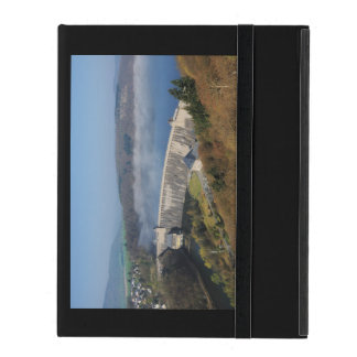 Edersee concrete dam with fog iPad folio case