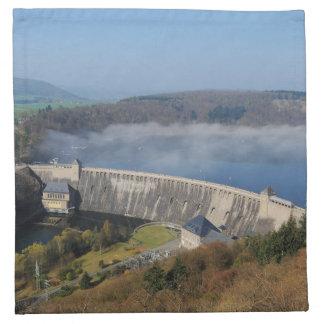Edersee concrete dam with fog napkin