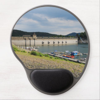 Edersee concrete dam with low water gel mouse pad