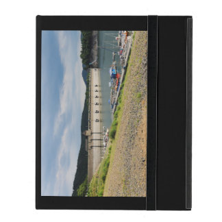 Edersee concrete dam with low water iPad cover