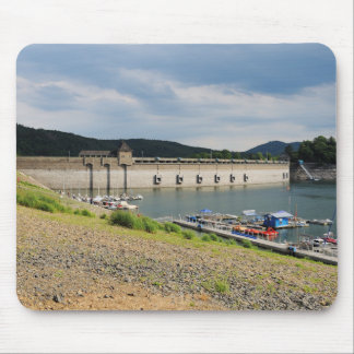 Edersee concrete dam with low water mouse pad