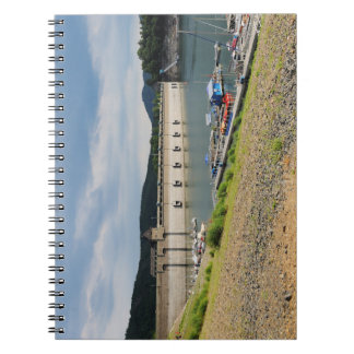 Edersee concrete dam with low water notebook