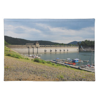 Edersee concrete dam with low water placemat