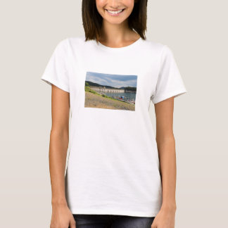 Edersee concrete dam with low water T-Shirt