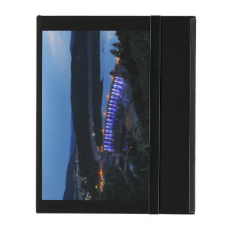 Edersee lit up concrete dam in the evening iPad case