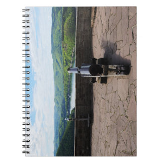 Edersee prospect of closed forest-hits a corner spiral note book