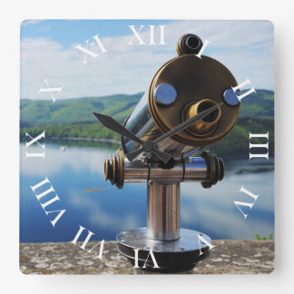 Edersee prospect of closed forest-hits a corner square wall clock
