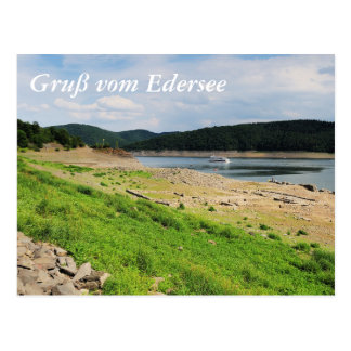 Edersee village place of Berich Postcard