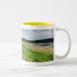Edersee village place of Berich Two-Tone Coffee Mug