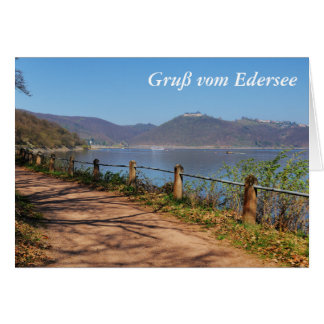 Edersee with lock forest-hit a corner card