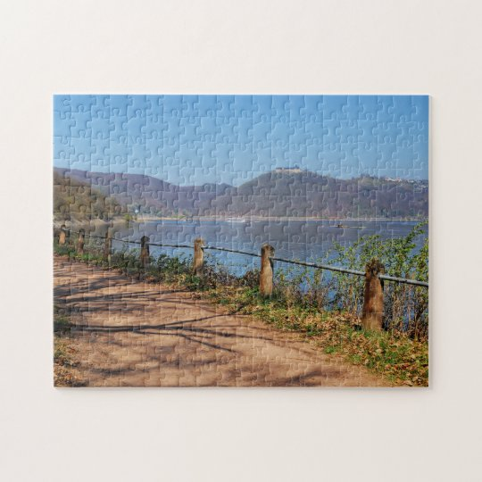 Edersee with lock forest-hit a corner jigsaw puzzle