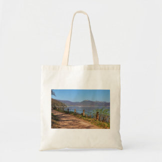 Edersee with lock forest-hit a corner tote bag