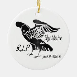Edgar Alan Poe The Raven Ceramic Ornament