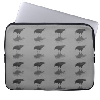 Edgar Allan Crow Repeat Laptop Sleeve