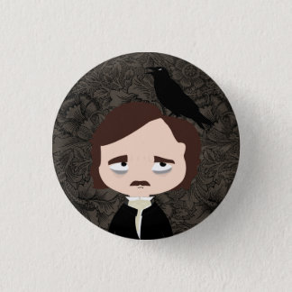 Edgar Allan Poe 3 Cm Round Badge
