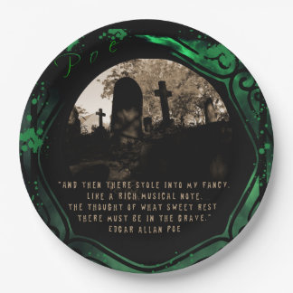 Edgar Allan Poe 9 Inch Paper Plate
