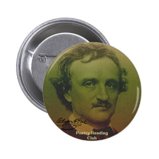Edgar Allan Poe Pinback Buttons