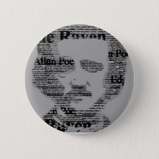 Edgar Allan Poe Bottom 6 Cm Round Badge