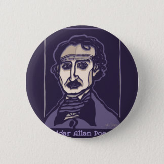 Edgar Allan Poe by FacePrints 6 Cm Round Badge