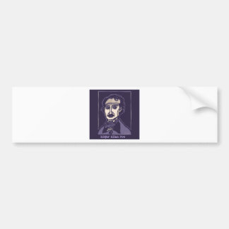 Edgar Allan Poe by FacePrints Bumper Sticker