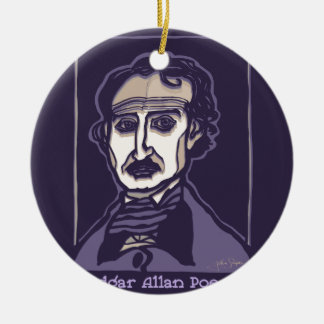 Edgar Allan Poe by FacePrints Ceramic Ornament