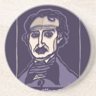 Edgar Allan Poe by FacePrints Coaster