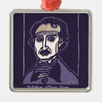 Edgar Allan Poe by FacePrints Metal Ornament