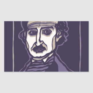 Edgar Allan Poe by FacePrints Rectangular Sticker