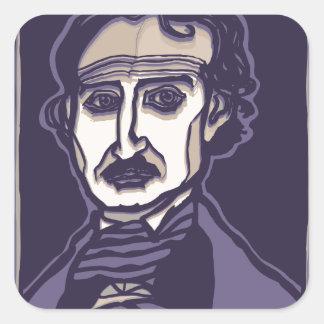 Edgar Allan Poe by FacePrints Square Sticker