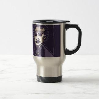 Edgar Allan Poe by FacePrints Travel Mug