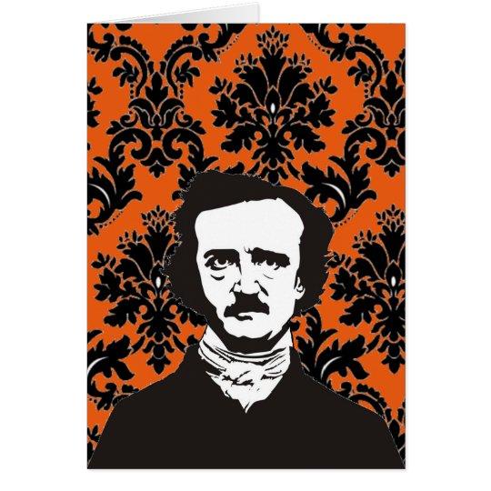 Edgar Allan Poe card - orange