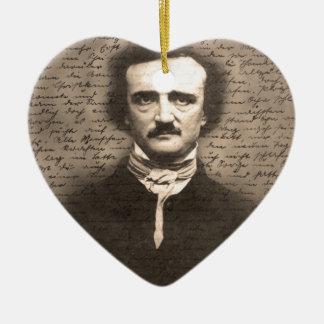 Edgar Allan Poe Ceramic Ornament