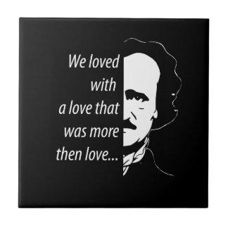 Edgar Allan Poe Ceramic Tile