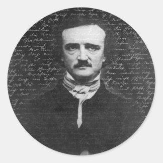 Edgar Allan Poe Classic Round Sticker