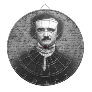 Edgar Allan Poe Dartboard With Darts