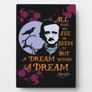 Edgar Allan Poe Dream Within a Dream Quote Plaque