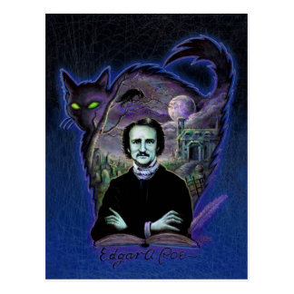 Edgar Allan Poe Gothic Postcard
