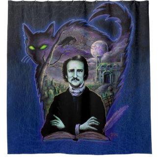 Edgar Allan Poe Gothic Shower Curtain
