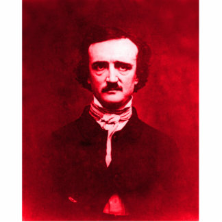 Edgar Allan Poe in Red Photo Sculpture Decoration