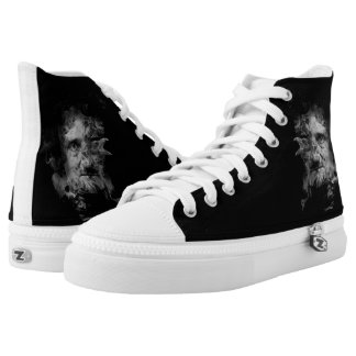 Edgar Allan Poe in Smoke with Raven High Tops